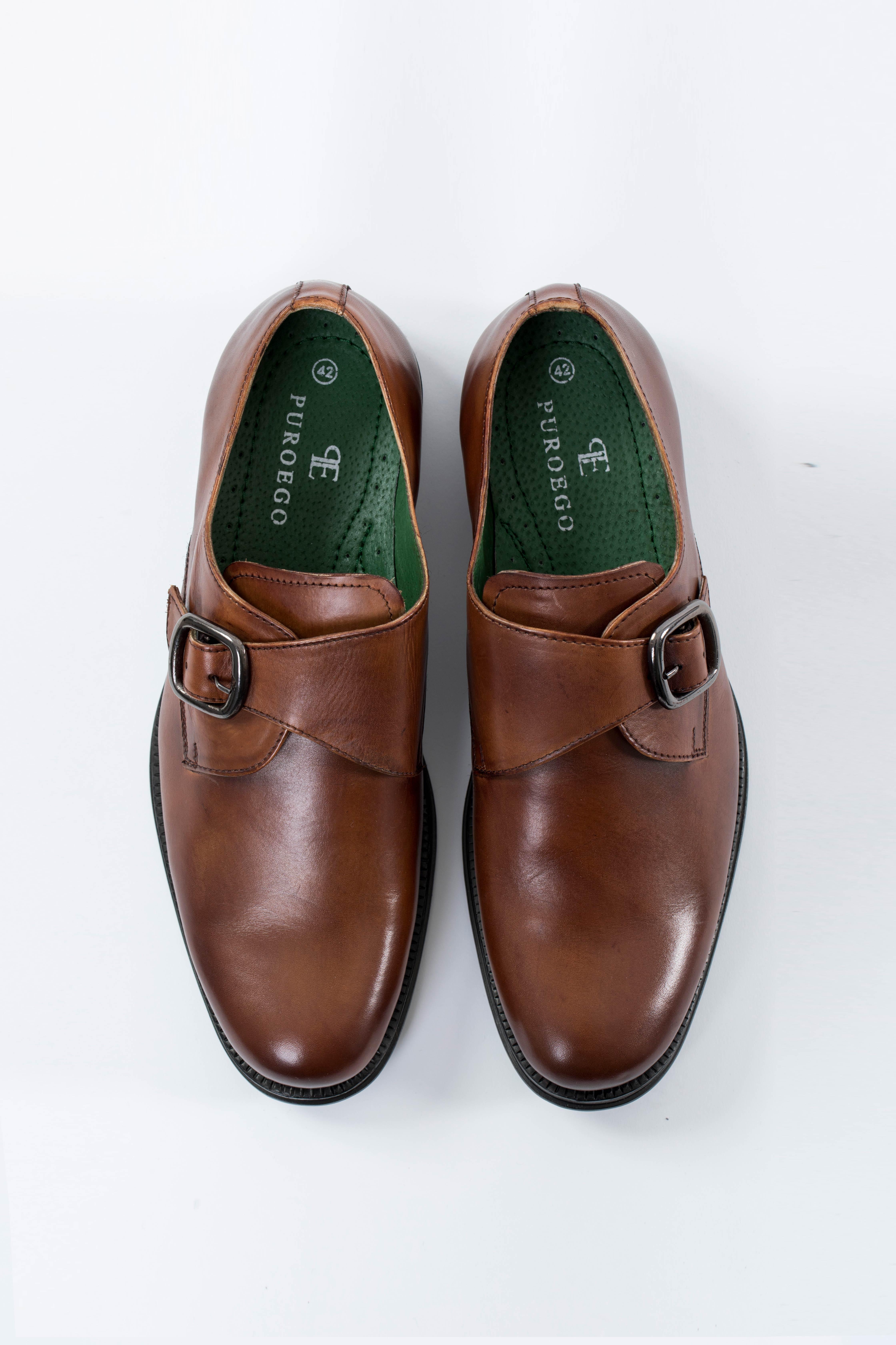 revisa 0b106 987ee Zapato piel hebilla coñac