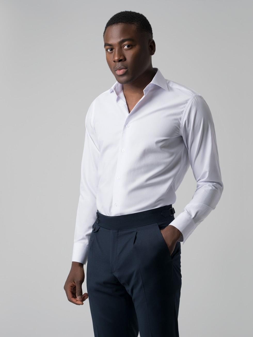 Camisa Básica Slim Blanca Fit Básica Camisa Slim WEDHIe29Y