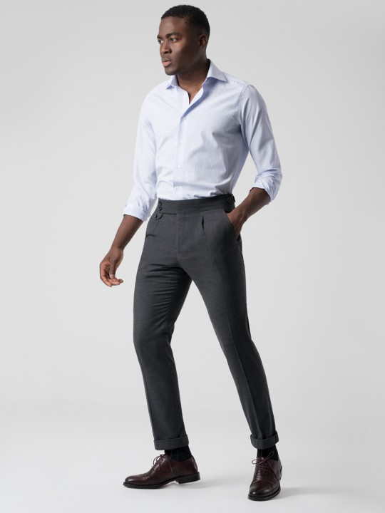 Pantalón tailored melton gris