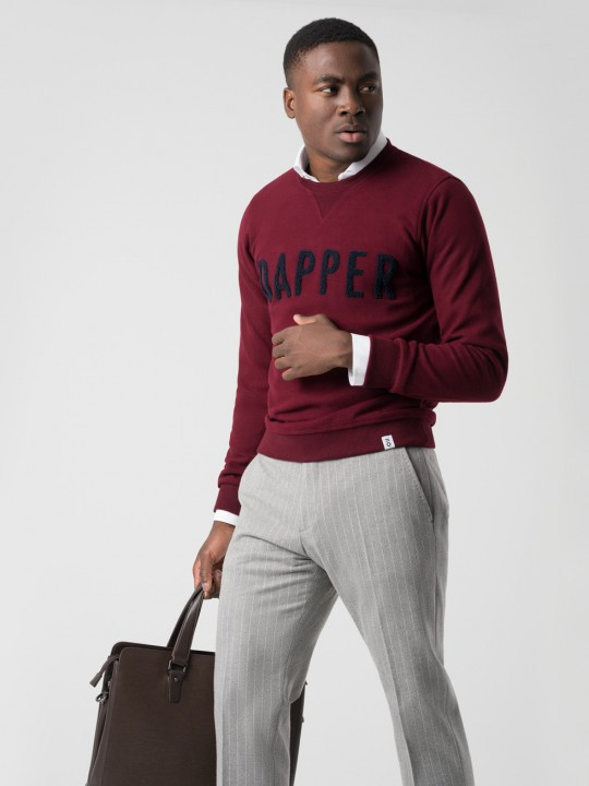 Sudadera DAPPER granate