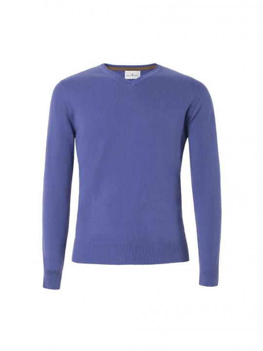 Jersey cuello pico violeta