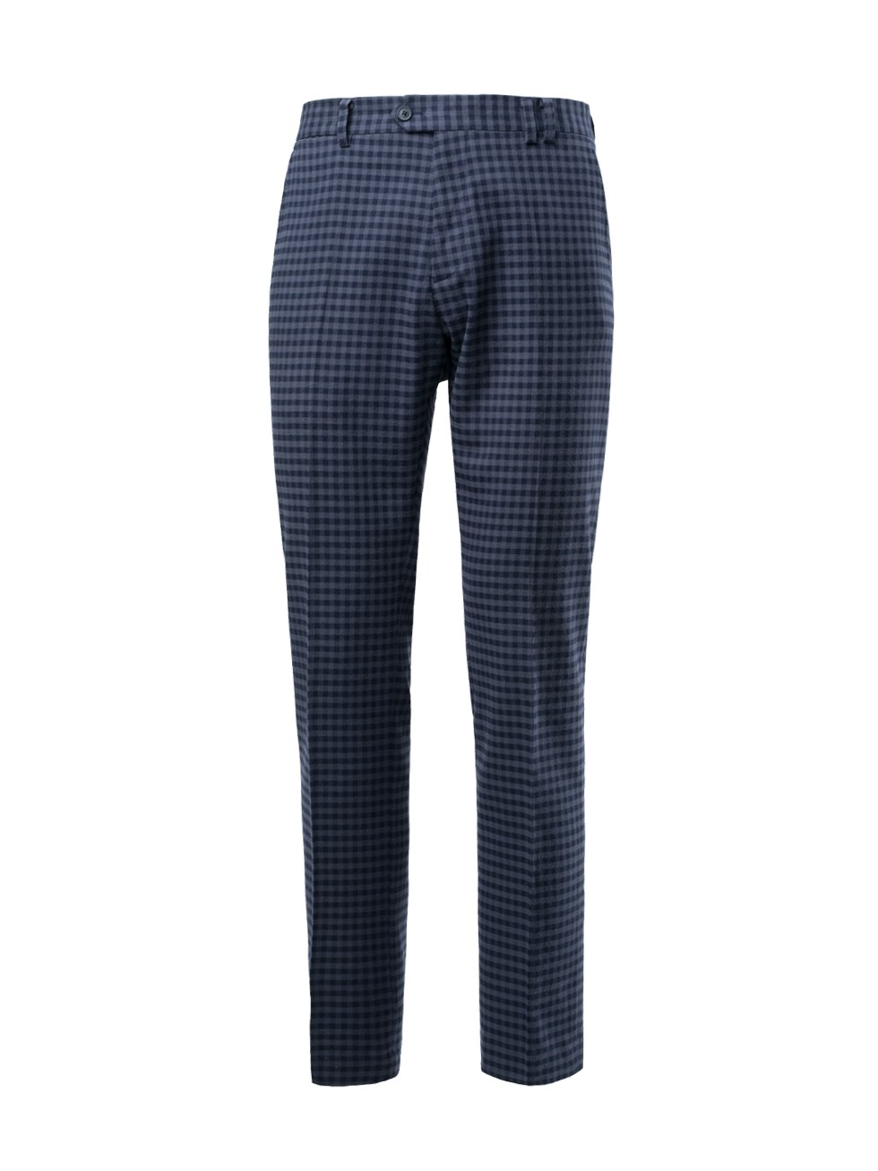 Pantalón tailored estampado vichy marino