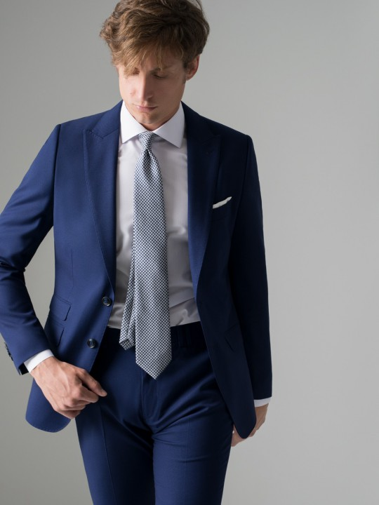 Traje slim fit azul tinta