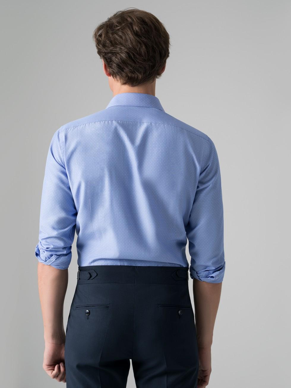Camisa maquineta topos azul