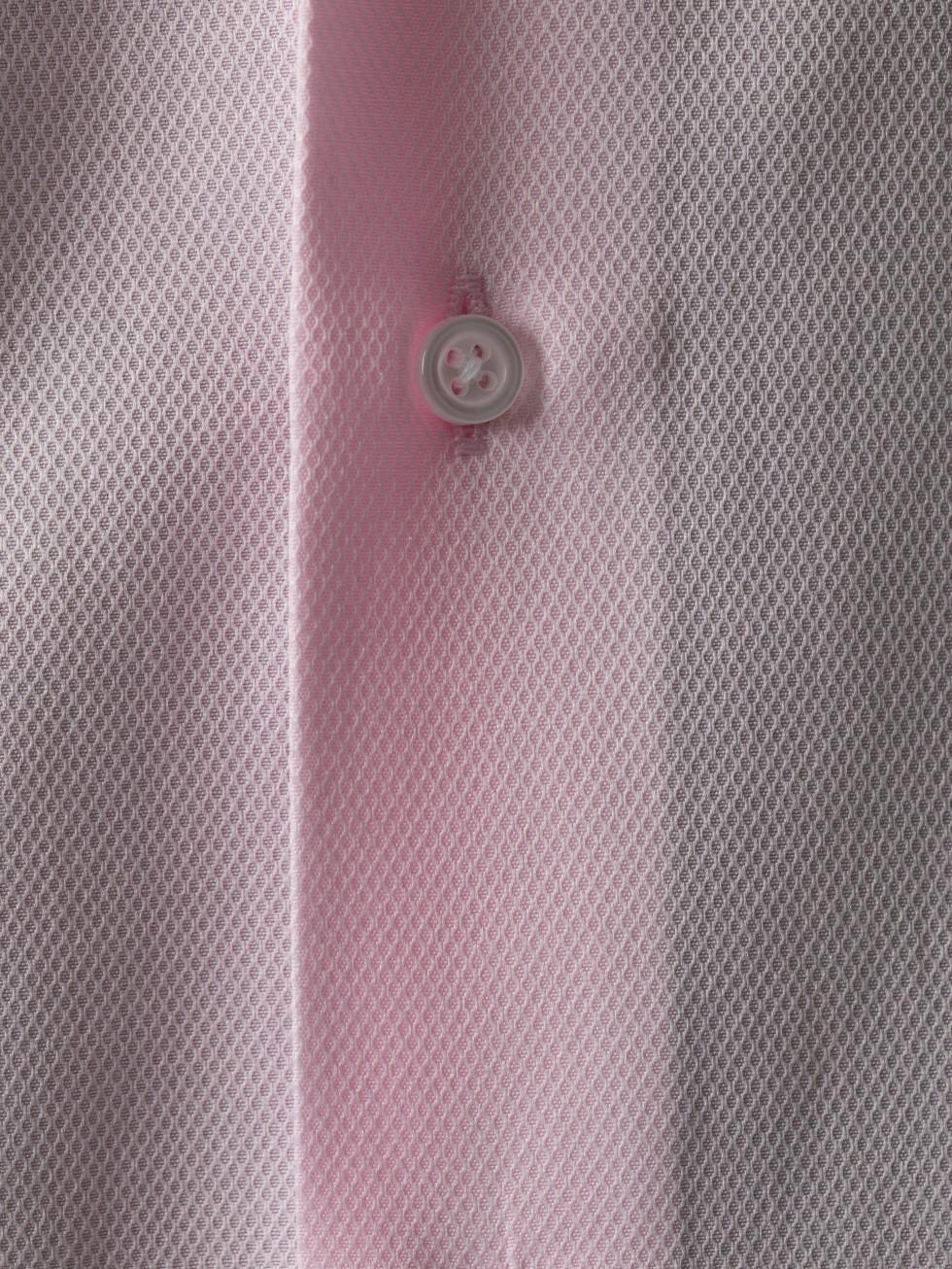 Camisa maquineta rejilla rosa