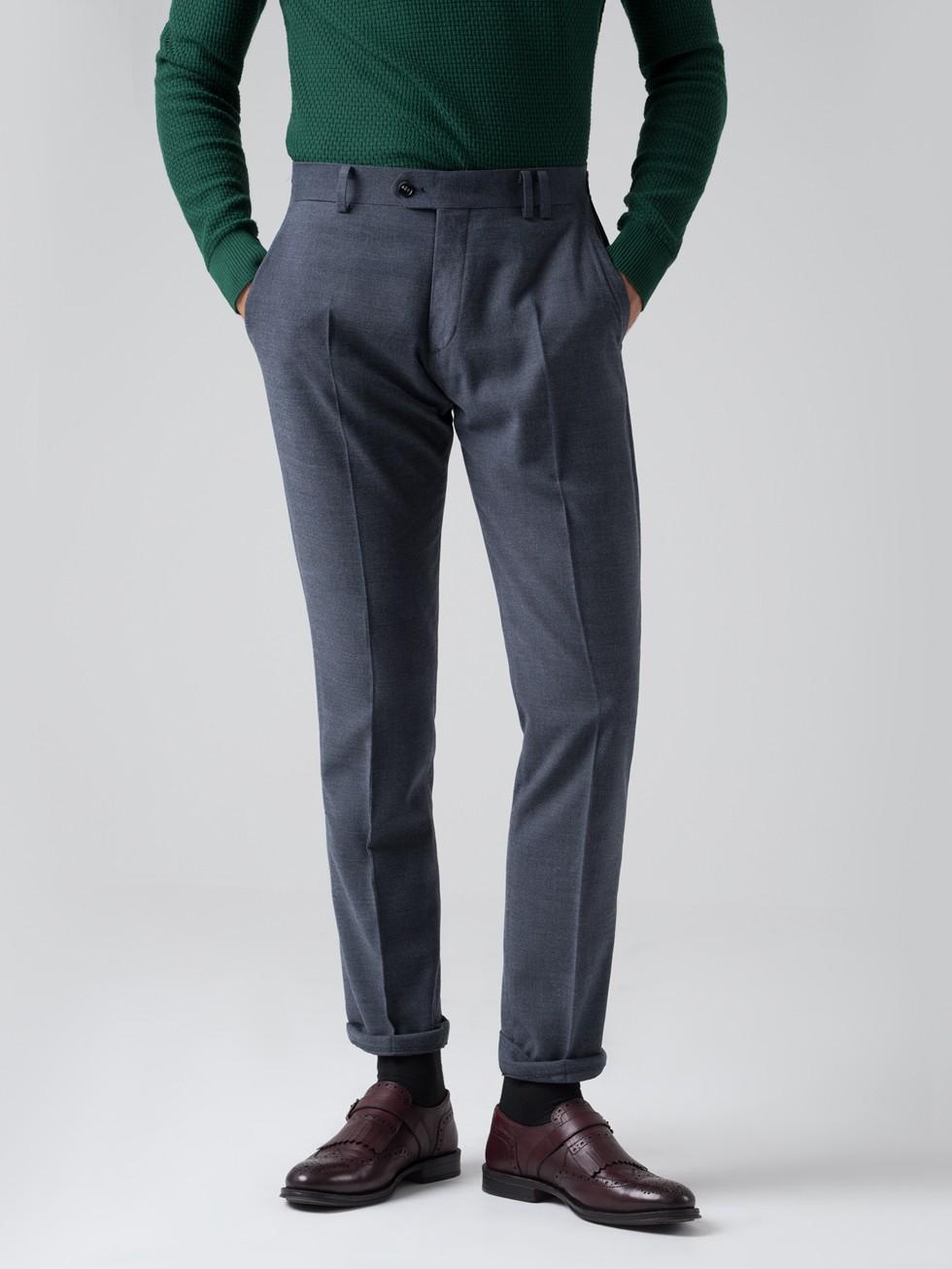 Pantalón tailored melton gris azulado