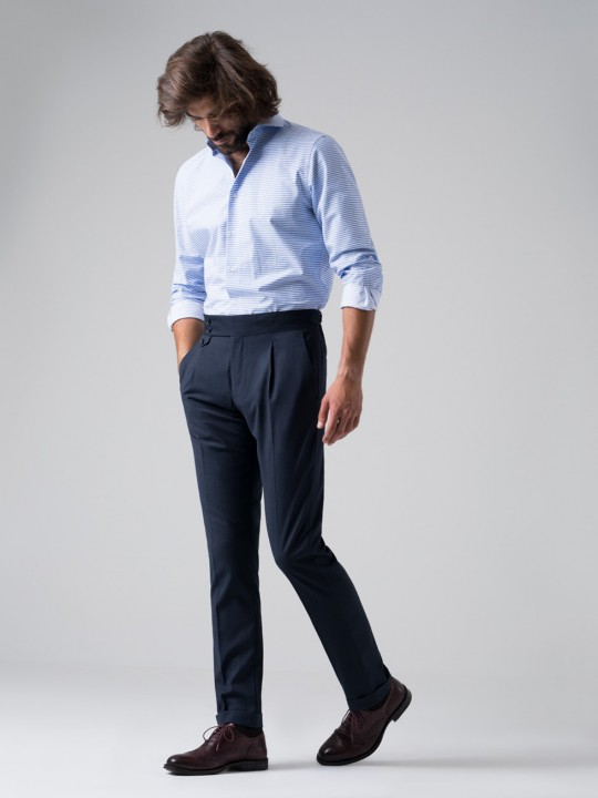 Pantalón tailored pata de gallo marino