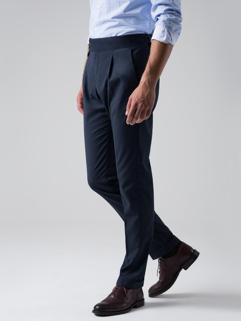 Pantalón tailored pata de gallo marino