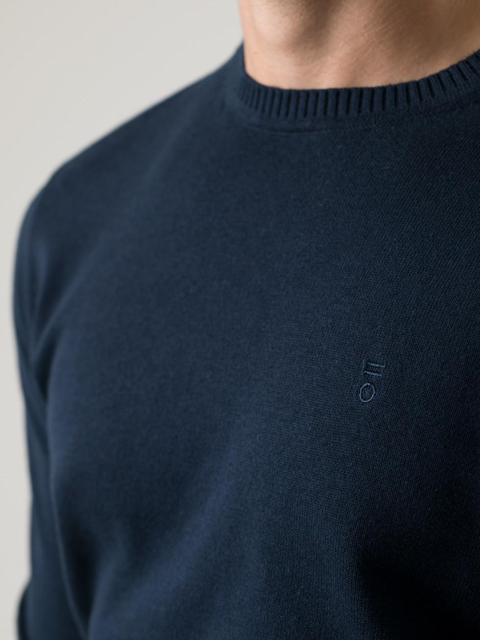 Jersey cuello caja navy