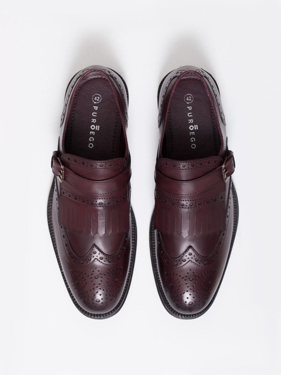 d0f1751c6a Zapato piel flecos burdeos · Zapato piel flecos burdeos ...