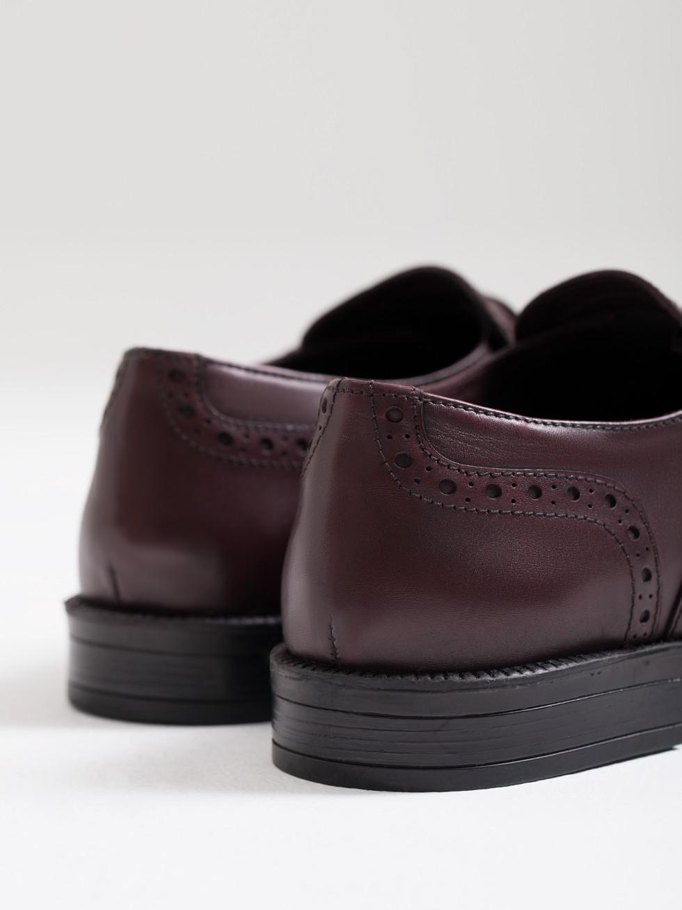 7a0a300fc6 Zapato hombre flecos piel burdeos PuroEGO