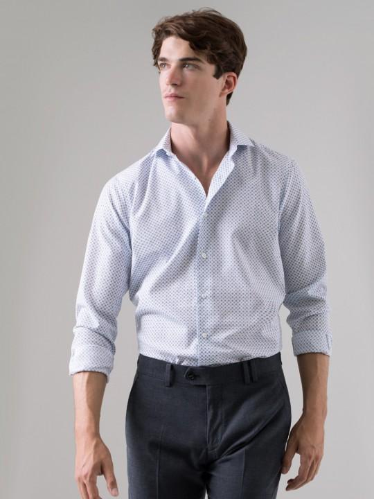 Camisa estampado azul