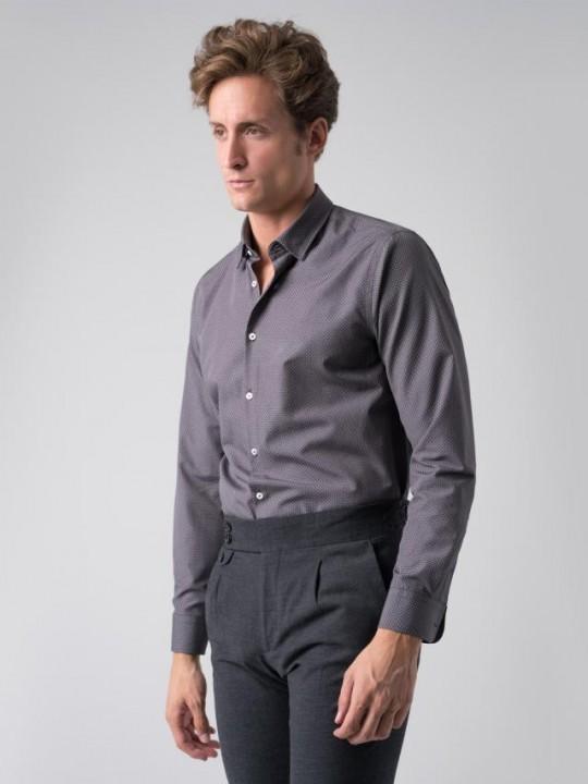 Camisa topos gris