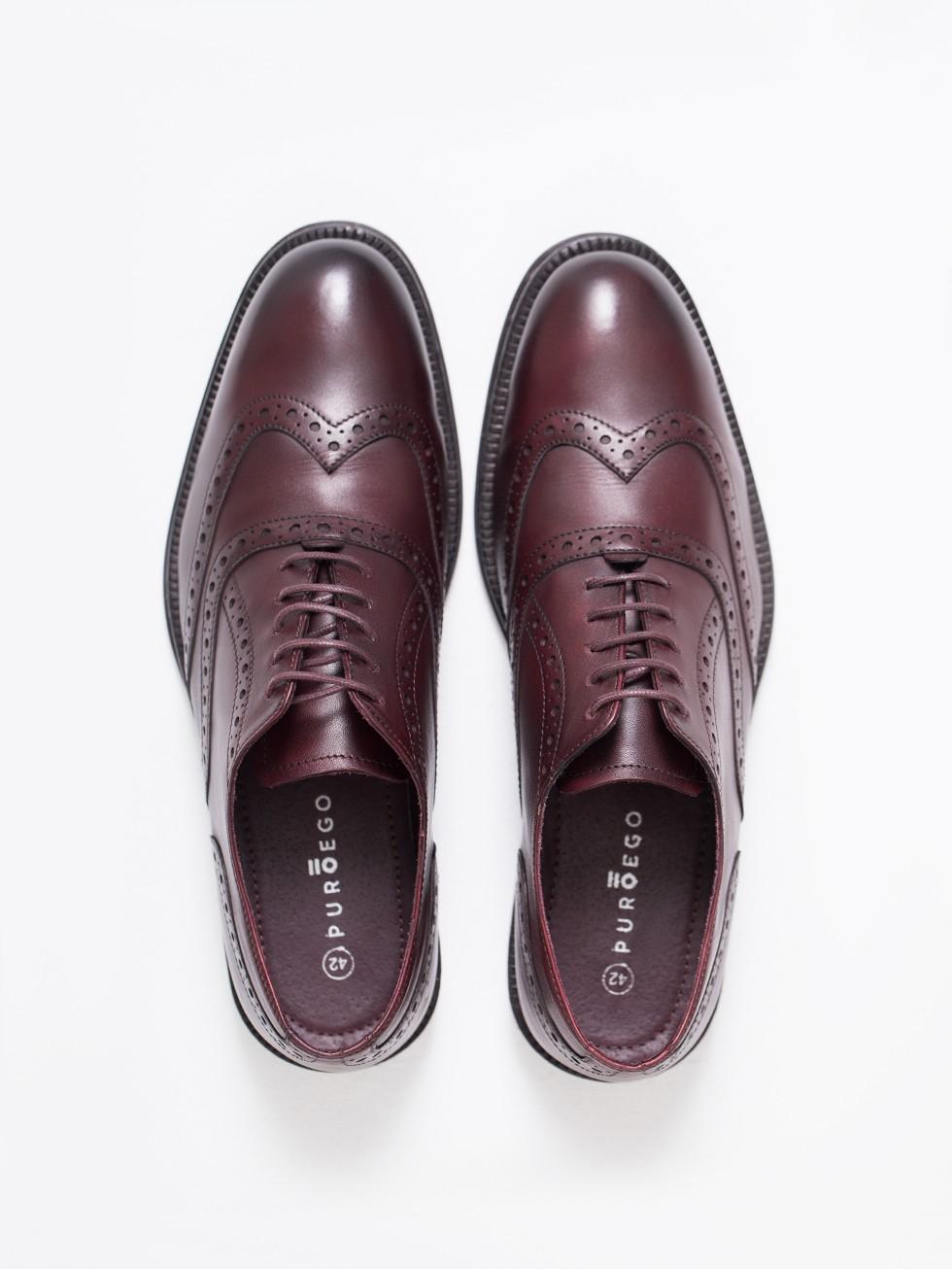 e39dc9b247 Zapato oxford picado piel burdeos · Zapato oxford picado piel burdeos ...