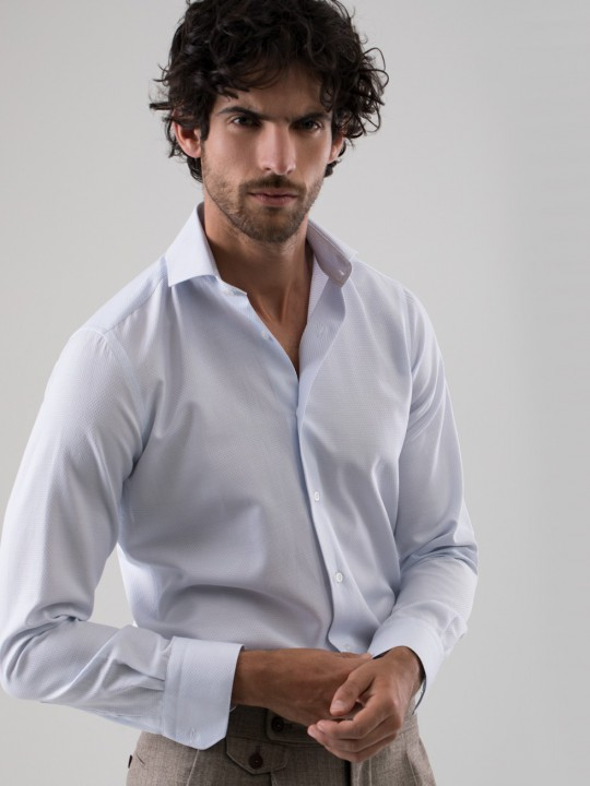 Camisa maquineta celeste