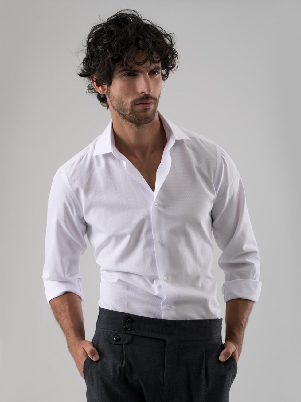 Camisa maquineta blanco