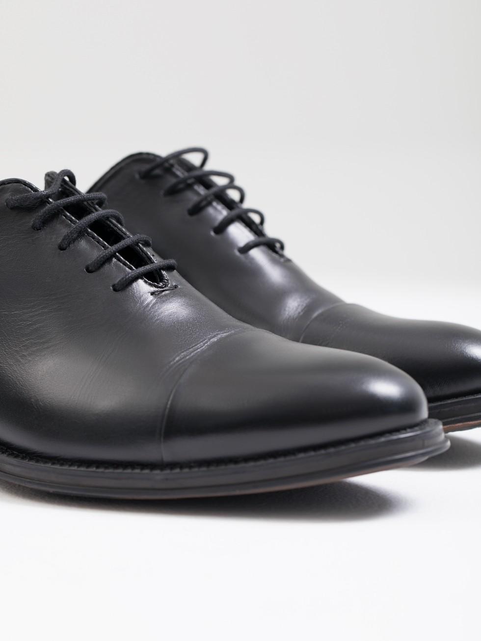Negro Oxford Zapato Piel Oxford Zapato 45AjRL