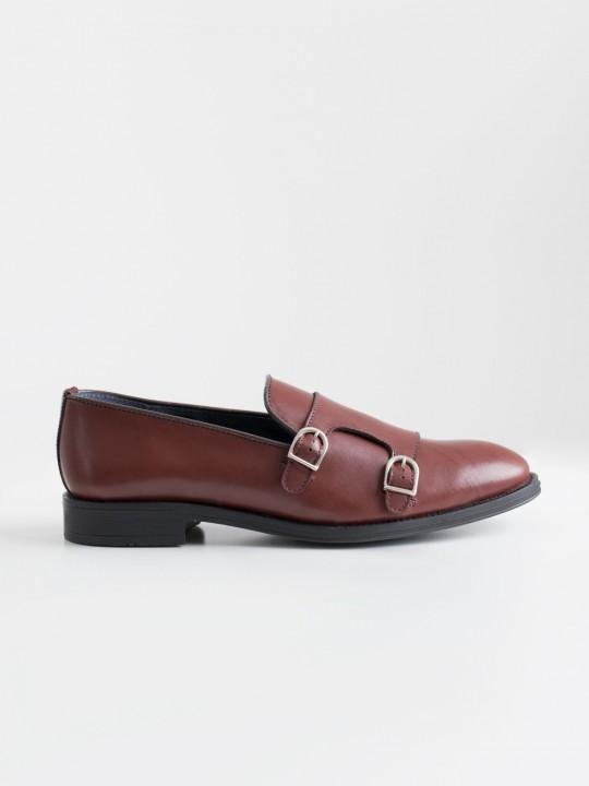 Zapato monk granate