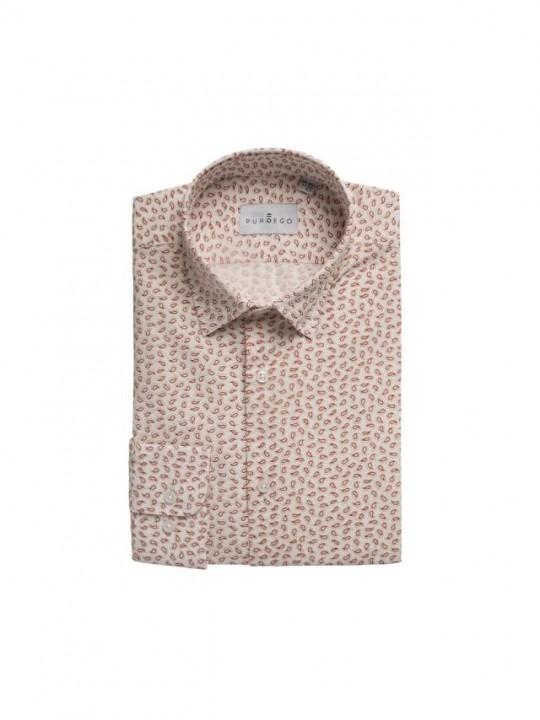 Camisa estampado paisley beige