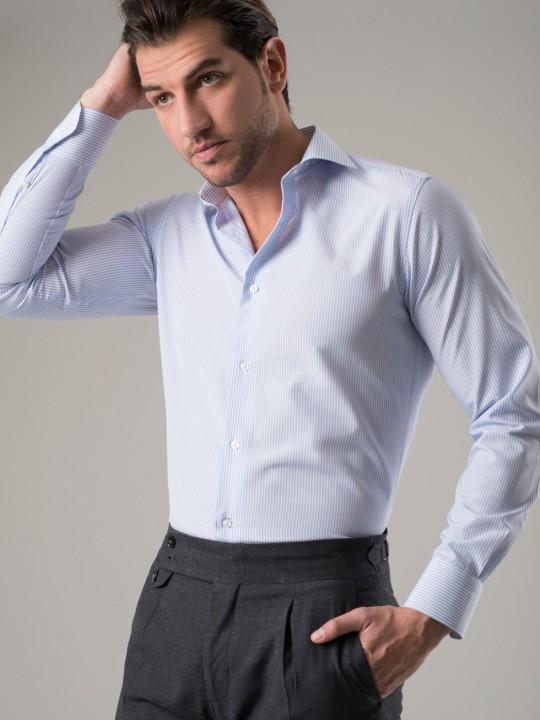 Camisa raya celeste