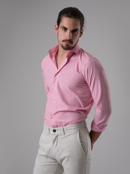 Camisa fill a fil rosa