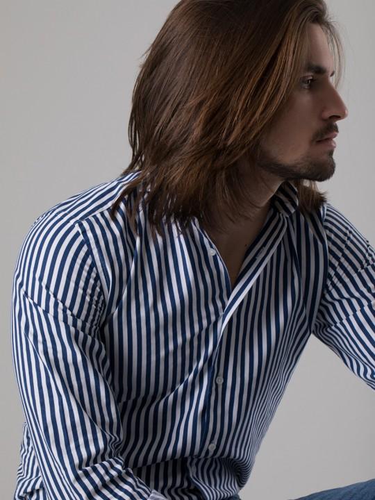 Camisa rayas marino
