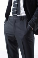 Wood suit straight lapel
