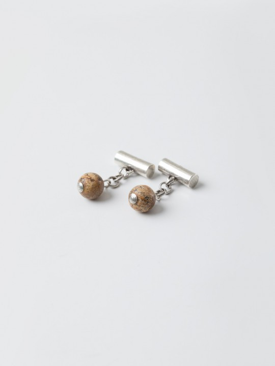 EARTH NATURAL STONE CUFFLINKS