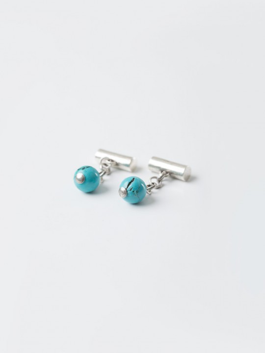 TURQUOISE NATURAL STONE CUFFLINKS