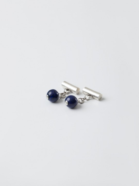 NAVY NATURAL STONE CUFFLINKS