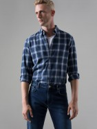 Camisa slim fit estampad geométrico