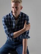 PuroEGO Camisa slim fit motivo fil coupé