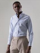 Camisa slim fit estampado geométrico